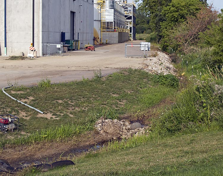 Ditch near SW corner of Didion Ethanol plant