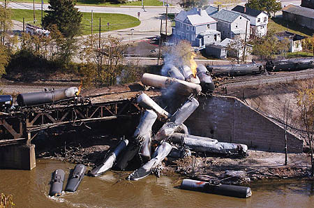 Ethanol tanker train disaster in western Pennsylvania